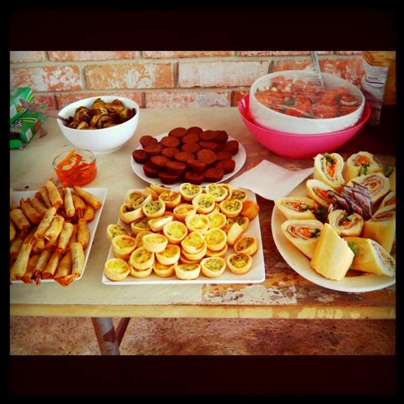 Semi-DIY Girls Pool Party Food