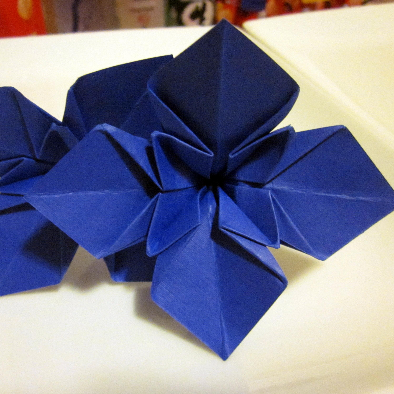Origami flower centerpieces semi diy iris izmirmasajfo