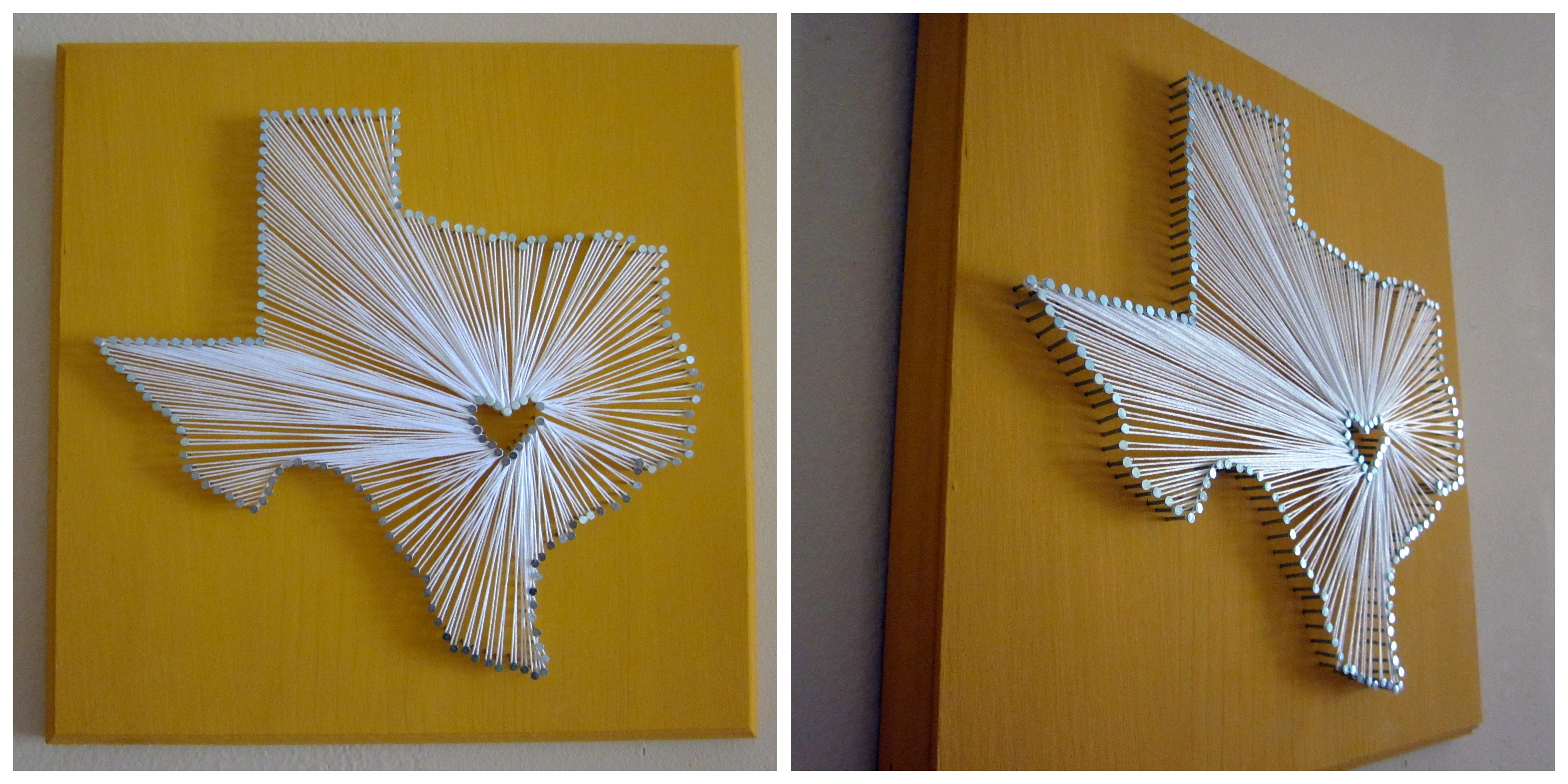 Semi-DIY State Nail and String Art | Semi-DIY