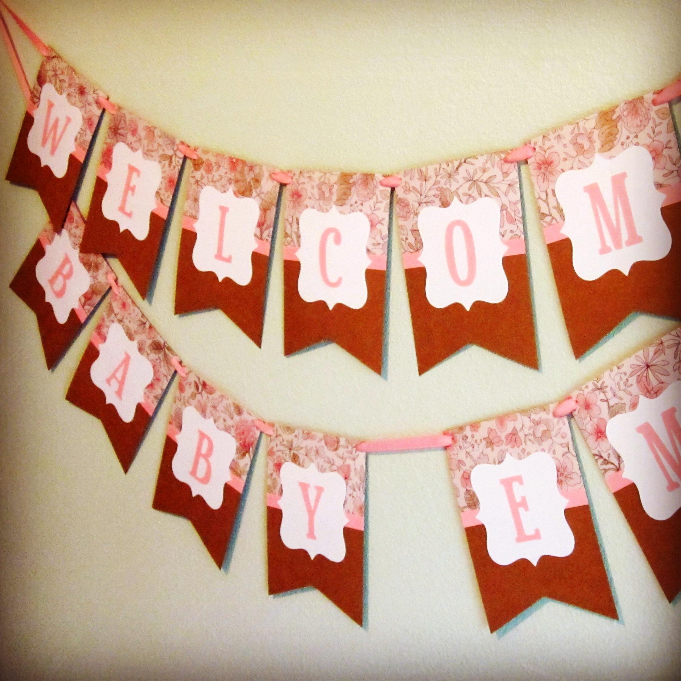 shabby chic banners  semidiy, Baby shower